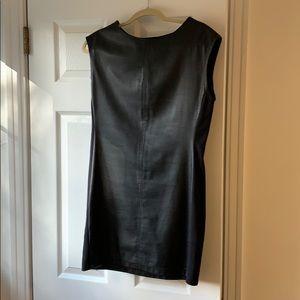 BCBG Leather Shift Dress